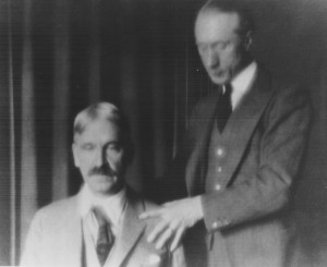 F. M. Alexander instructs Professor John Dewey © 2015 The Society of Teachers of the Alexander Technique, London